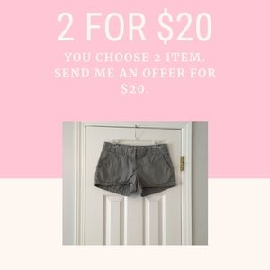 Gray J. Crew Shorts in Size 6